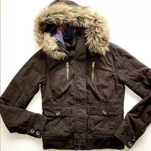 Abercrombie & Fitch Randi Hoodie Faux Fur Jacket